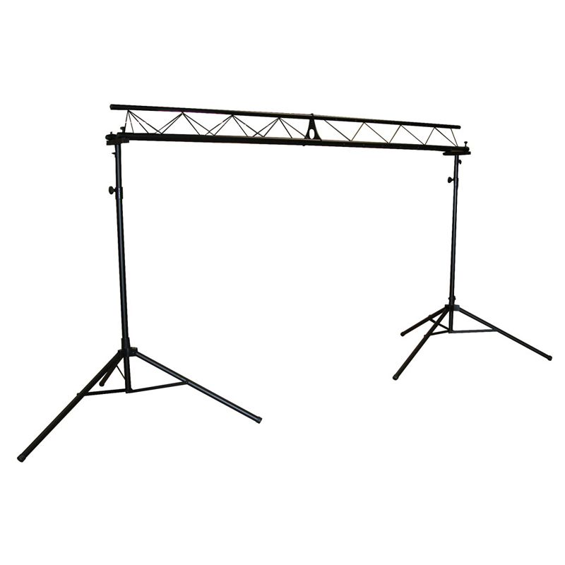 Qtx 3m Professional Tri Truss Dj Disco Band Lighting Stand System Easy Assemble 5538 P on Dj Equipment Setup